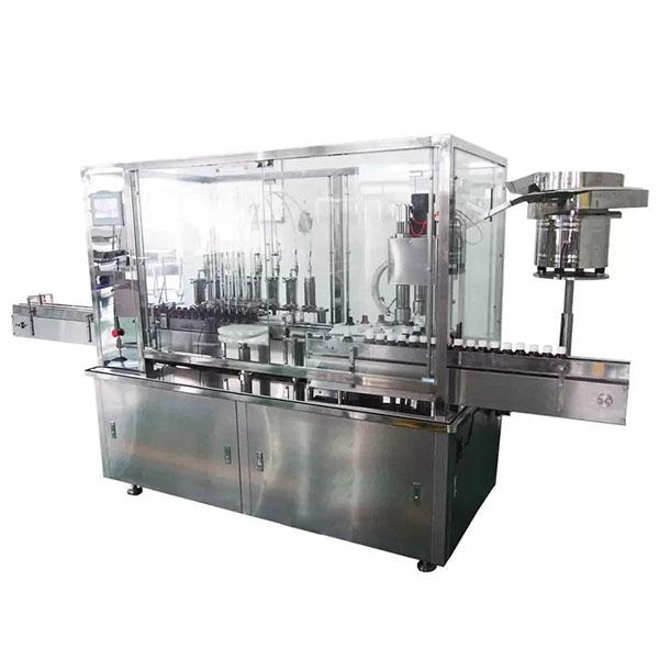 İlaç Üretim Hattı için 8 Kafa Şurubu Otomatik Dolum ve Kapak Makinesi